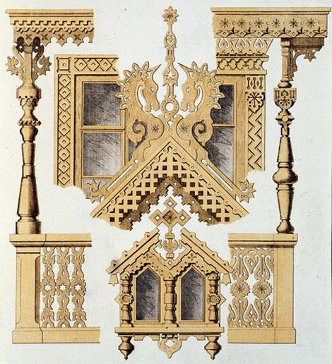 Деревянные резные декоры для дома