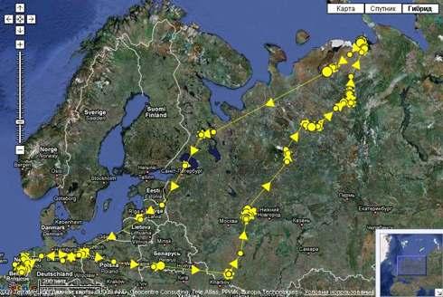 Карты миграции перелетного