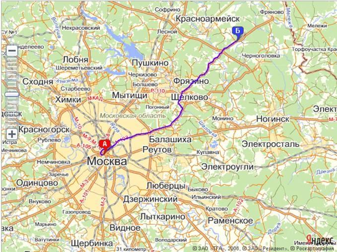 Электронная GPS карта города Москва для GPS ГЛОНАСС мониторинга.
